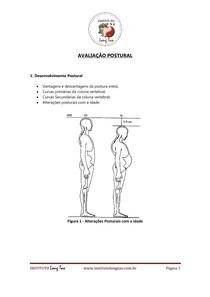 AVALIAÇÃO POSTURAL. Figura 1   Alterações Posturais com a idade. 1. Desenvolvimento Postural