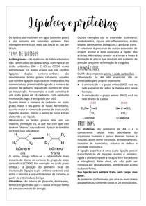Lipídeos e proteínas