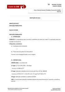 Processo do Trabalho  aula 02  Módulo Específico