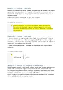 APOL 3   PESQUISA OPERACIONAL E SISTEMAS DE PRODUCAO DE BENS E SERVICOS