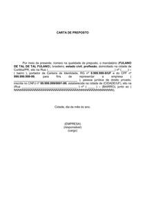 Carta De Preposto Prática Civil