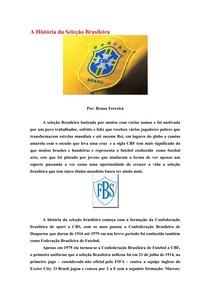 A História da Seleção Brasileira