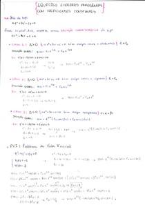 [EQUAÇÕES DIFERENCIAIS] Resumo_Método dos Coeficientes Constantes