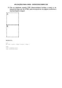 Exercícios sobre CSS com Respostas