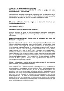 questões respondidas de microbiologia para AV1 AV2 2AV3