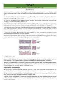 Histologia do tecido muscular e mecanismo de contração