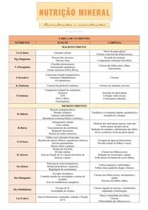 Nutrição mineral