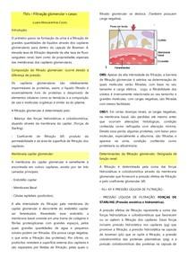 Filtração glomerular + casos