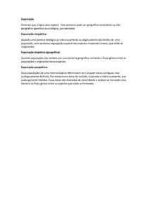 Especiação alopátrica, simpátrica e parapátrica