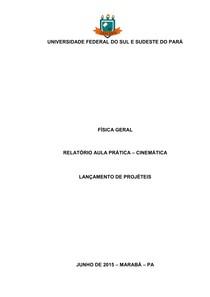 Física Geral - Relatório Lançamento de Projéteis