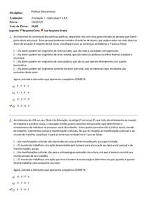 avaliação 1