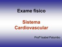 EXAME FISICO CARDIO