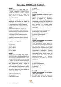 Simulado de Patologia Bucal #1 - Odontologia Para Concursos