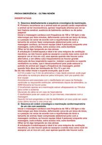 PROVA DE EMERGENCIA E CUIDADOS INTENSIVOS
