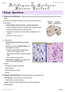Patologias do Sistema Nervoso Central