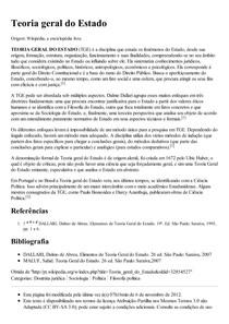 Teoria geral do Estado – Wikipédia  a enciclopédia livre