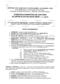 PSIC_1_PTC-Hábitos Corretos de Estudo, Elaboração de Resumos