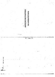 Adoção do Partido na Arquitetura - Laert Pedreira Neves