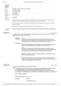 Avaliação On Line 5 (AOL 5)   educação popular