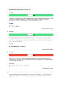 METODOLOGIA DA PESQUISA - 20201 A - AV 2