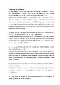 Direito Empresarial II - EXERCÍCIO DE FIXAÇÃO 02