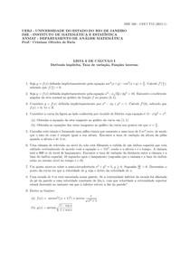 Lista6 CÁLCULO DIFERENCIAL E INTEGRAL 1 - UERJ 2015,1 Física