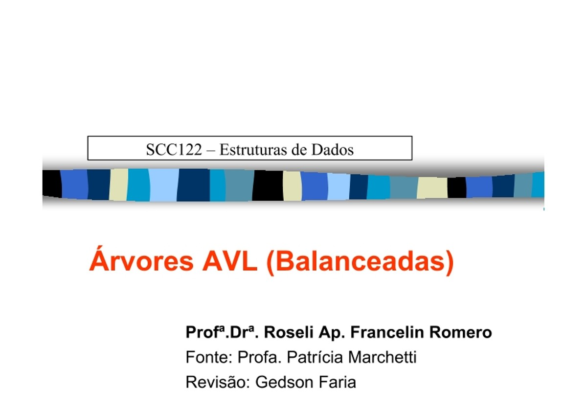 Pre-visualização do material Árvores AVL (Balanceadas) - página 1