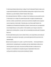 INTERVENCAO FEDERAL DA CF DE 88