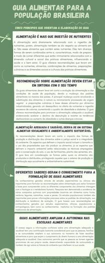 Princípios que orientam o Guia Alimentar para a População Brasileira