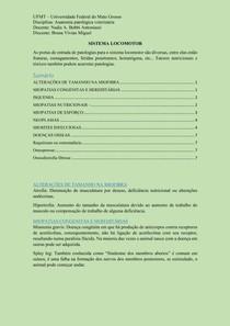 anatomia patológica - SISTEMA LOCOMOTOR