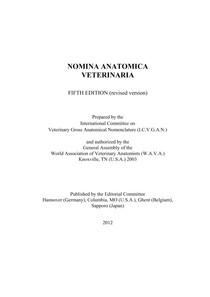 NÔMINA ANATÔMICA VETERINÁRIA - FIFTH EDITION - 2012