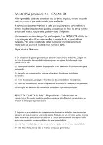 AP3 HPA II 1°-15 Gabarito