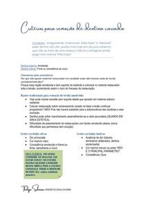 Critérios para remoção de dentina cariada (PD)