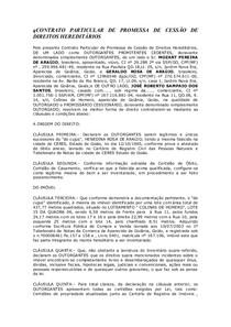 Modelo CONTRATO PARTICULAR DE PROMESSA DE CESSAO DE DIREITOS HEREDITARIO 1