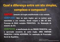 Qual a diferença entre ato simples, composto e complexo