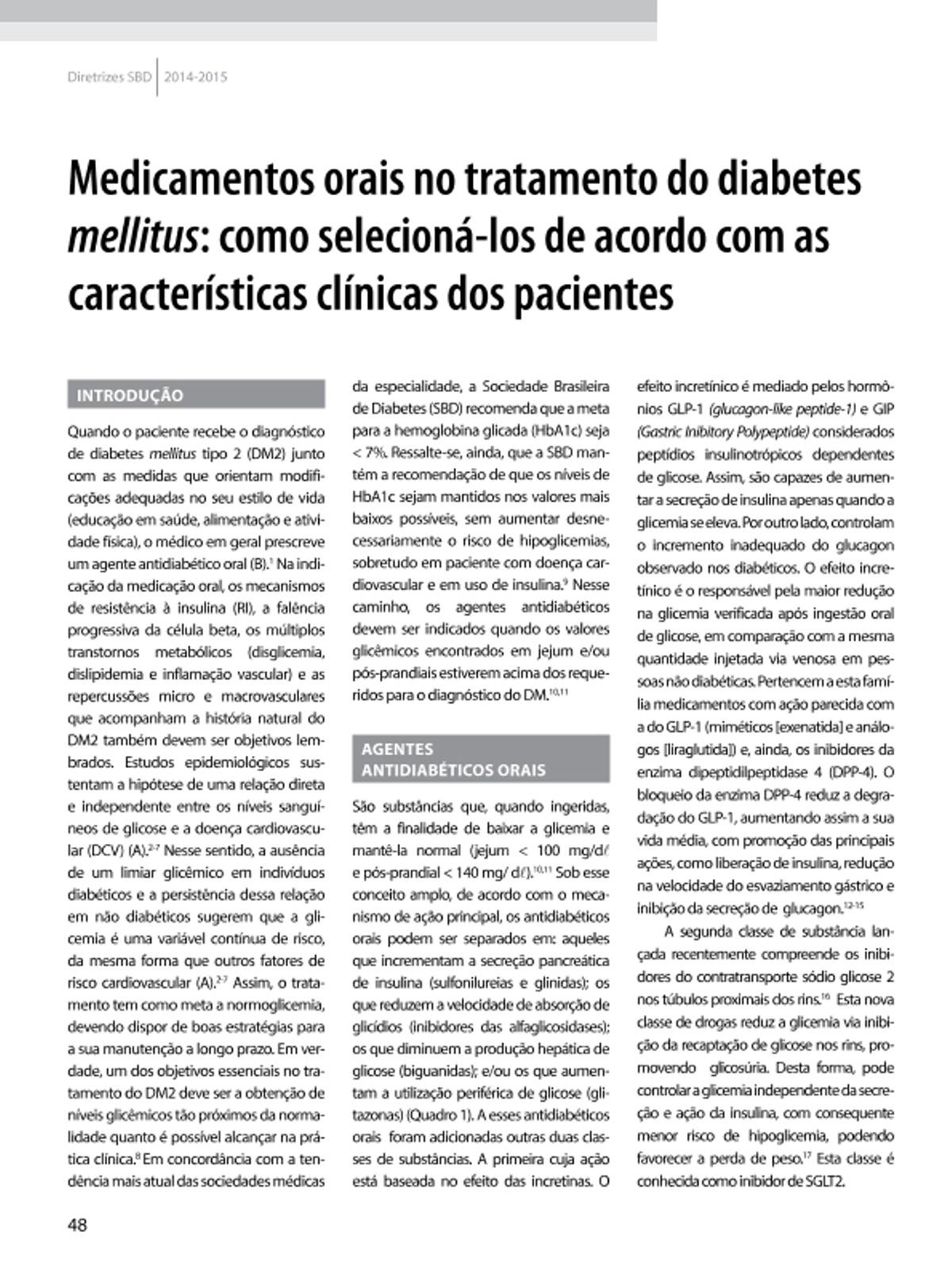 Pre-visualização do material Antiglicemiantes Oral - página 1