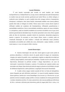 ANEMIAS - SISTEMA HEMATOPOIÉTICO