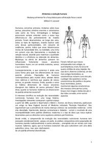 Alimentos e evolução humana