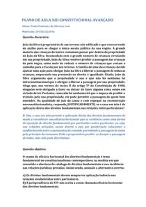 PLANO DE AULA XIII CONST AVANÇADO