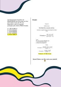 Um financiamento hipotético de R$300 000,00 que será pago ao final de 5 meses à taxa de 4% a m Determine o valor da segunda prestação pelo sistema PRICE (francês)