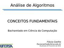 Conceitos Fundamentais de Análise de Algoritmos