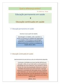 Educação e Práticas de educação em saúde