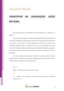 Princípio do juízo natural - Resumo