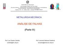 Análise de Falhas -  Cap. III