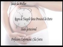 Data provavel do parto e idade gestacional
