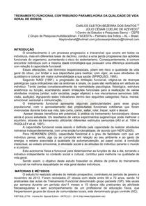 TREINAMENTO FUNCIONALCONTRIBUINDO PARAMELHORIA DA QUALIDADE DE VIDA GERAL DE IDOSOS.