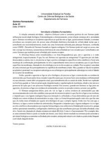 AULA 01 Química farmacêutica- Propriedades físico-químicas de fármacos