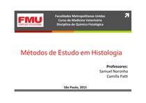 Metodos de Estudo em Histologia