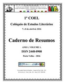 1º COEL   COLÓQUIO DE ESTUDOS LITERÁRIOS