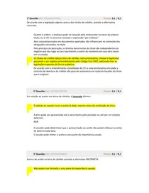 Avaliação Parcial DIREITO EMPRESARIAL APLICADO II